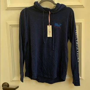 Vineyard Vines LS Graphic Tee with Hood Size M